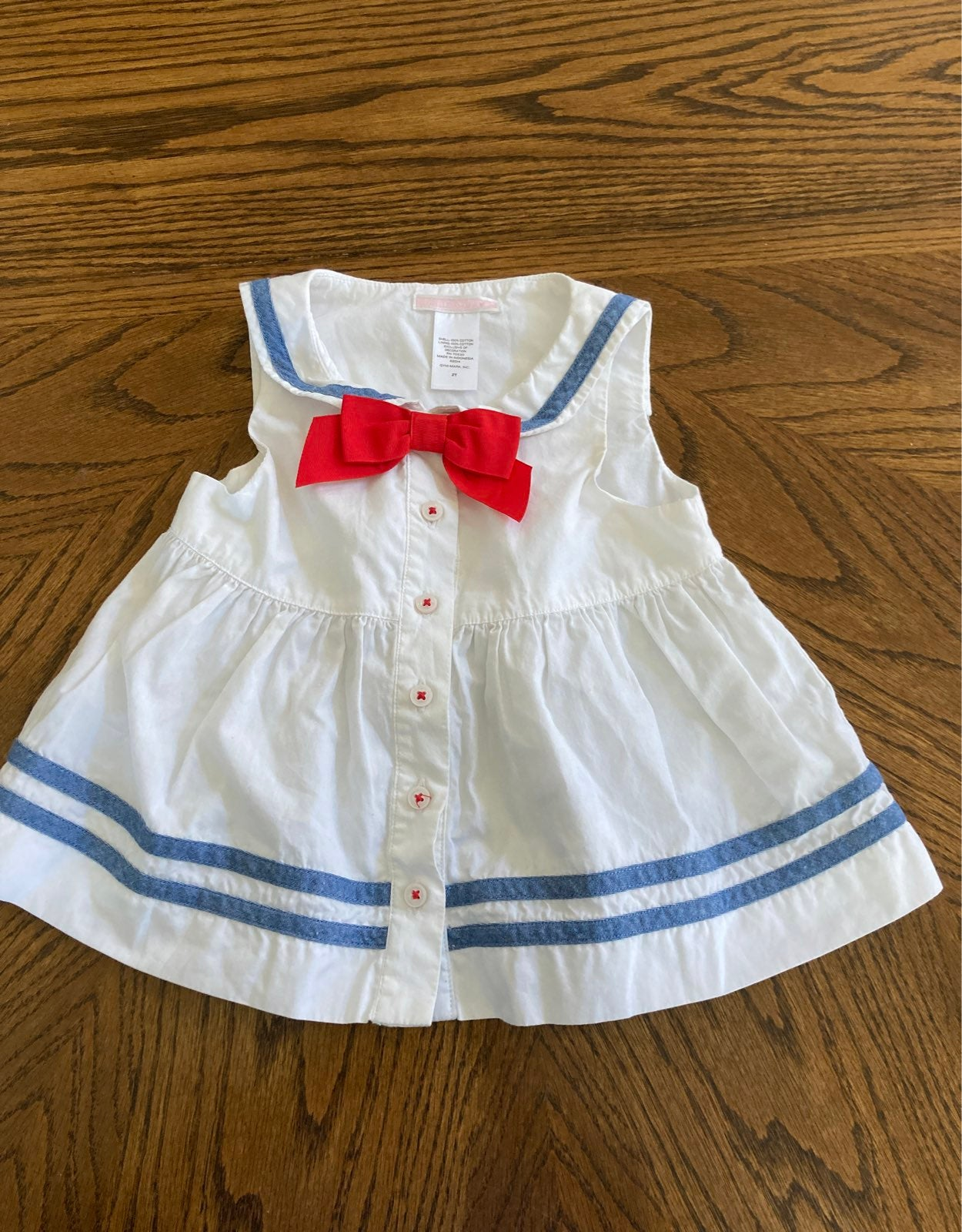 Janie and Jack girls 2t sailor top