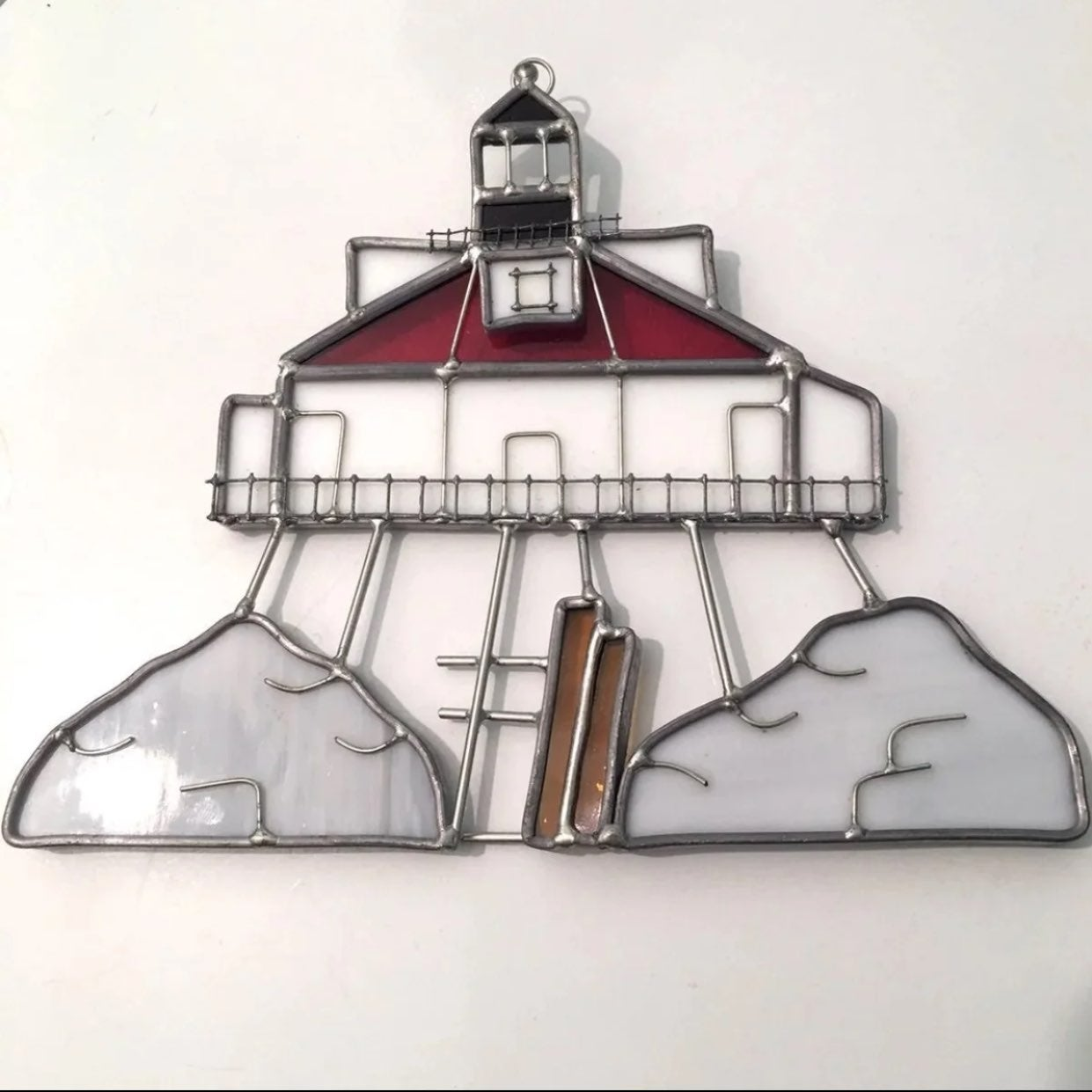 Lighthouse Stained Glass Suncatcher