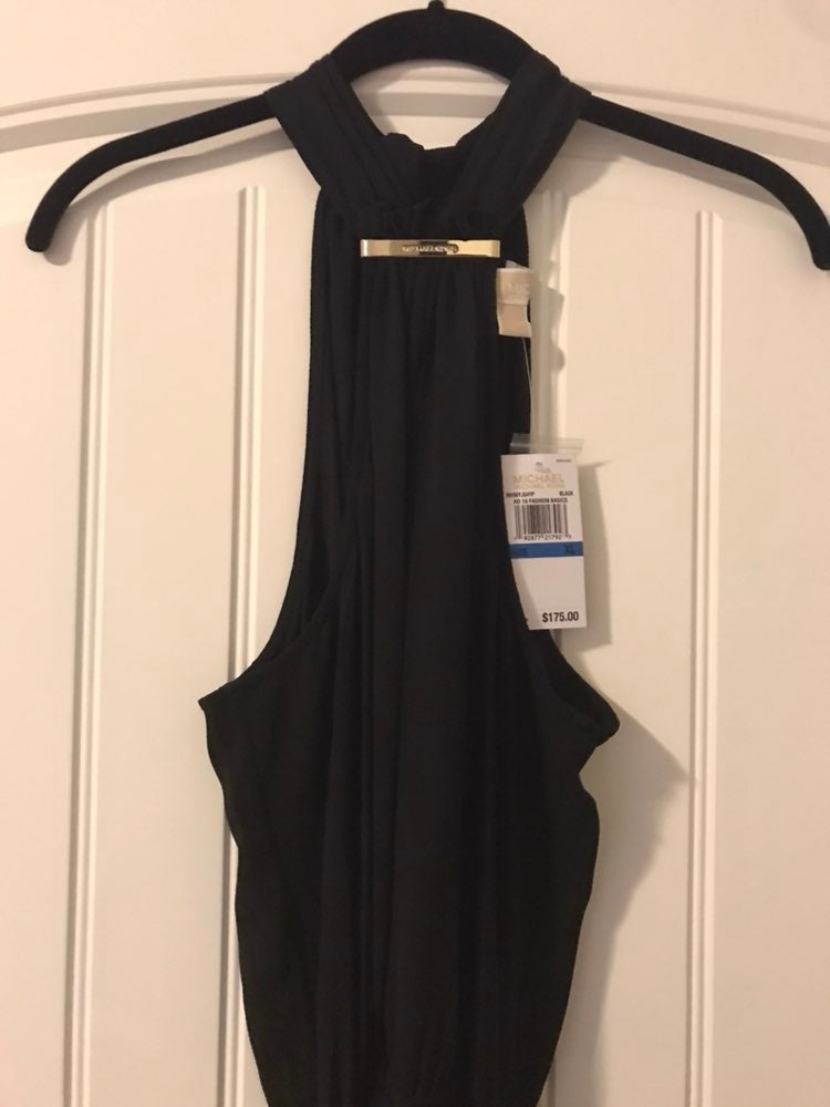 MICHAEL Michael Kors Logo Halter Dress