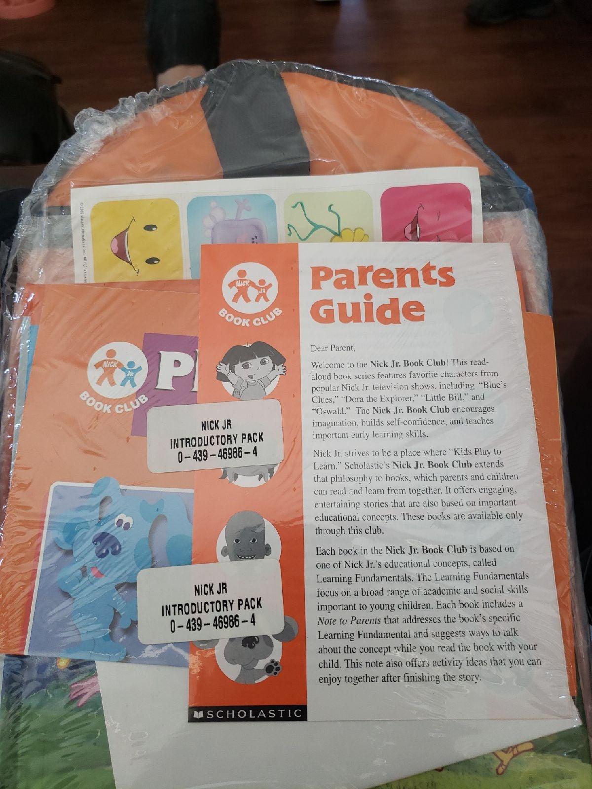 RARE Nick Jr face book club backpack NIP