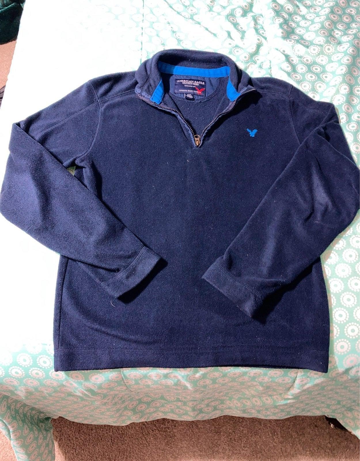 American eagle fleece pullover men small