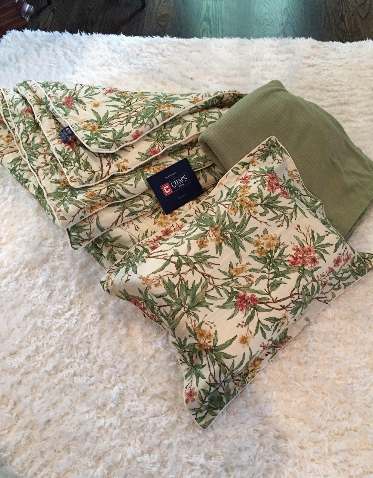 New- Chaps Comforter, Quilt & Sham-NEW