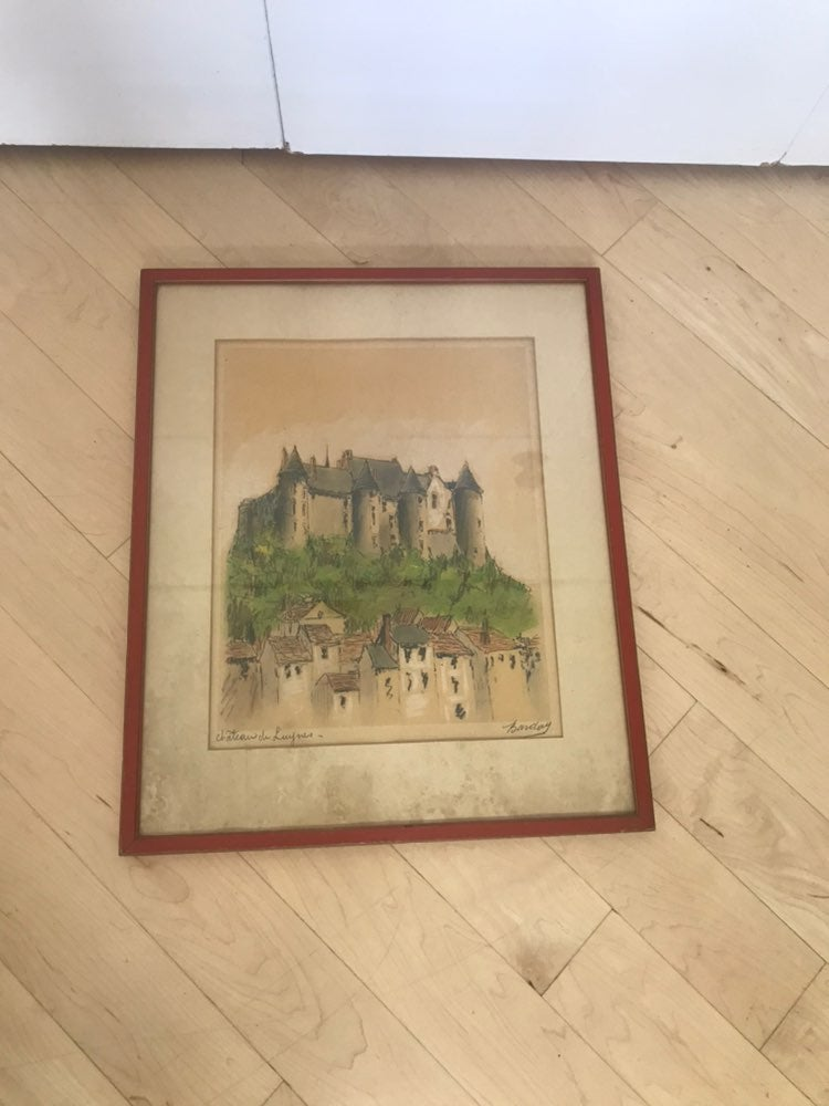 Original French Castle Drawing
