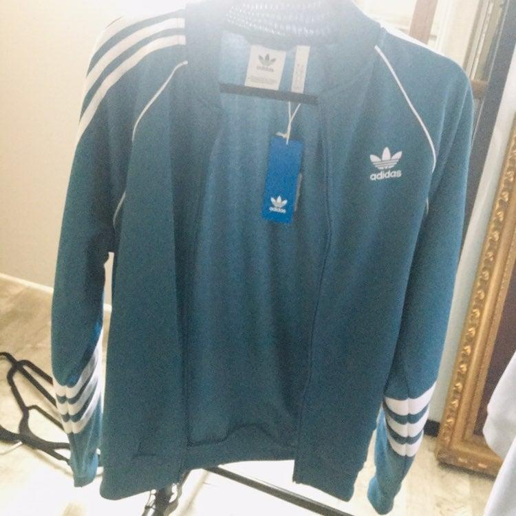 NEW Adidas original teal blue jacket