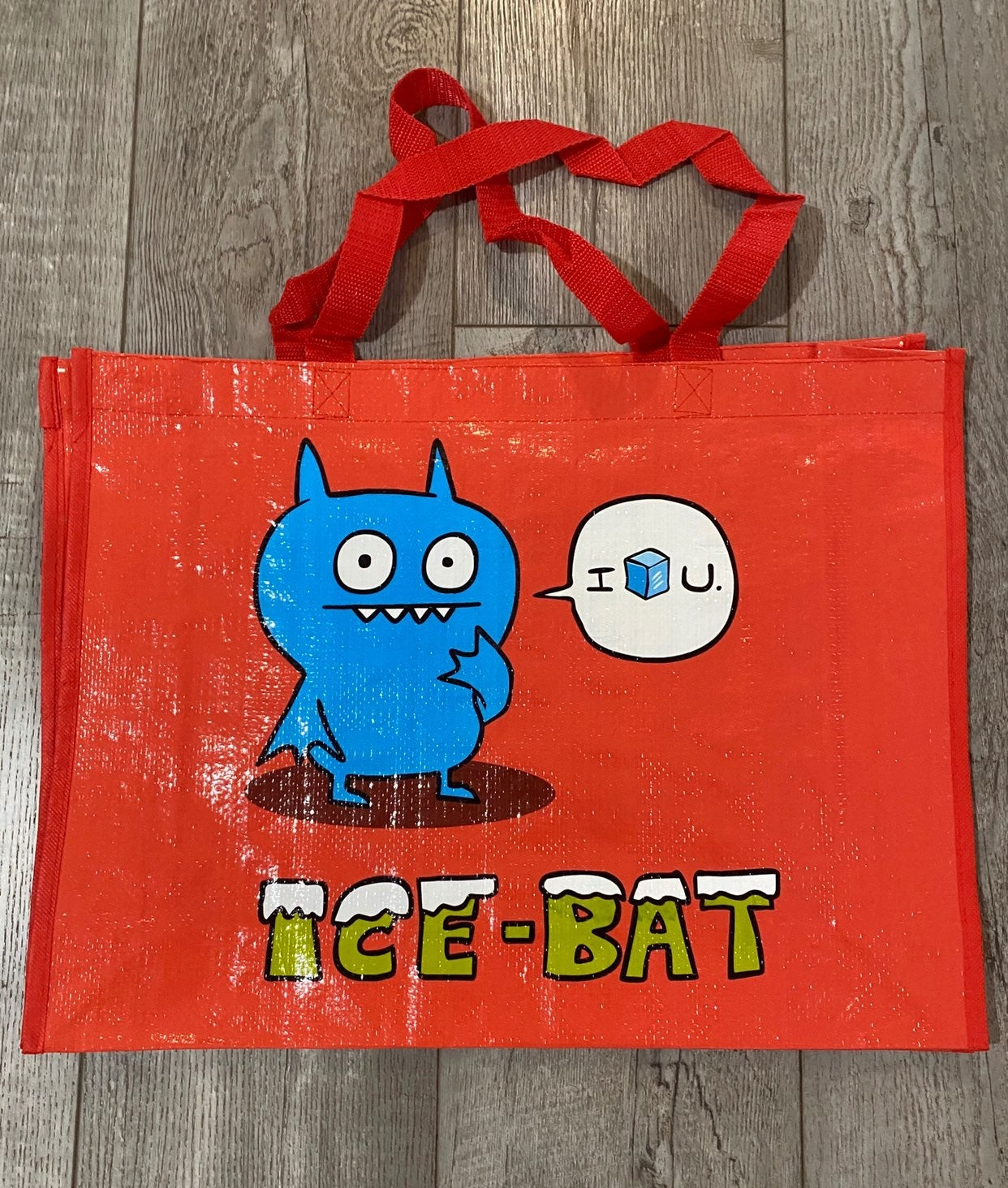 Red Uglydoll Tote bag with Ice-Bat