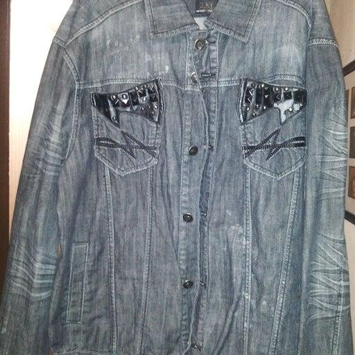 RAW BLUE Men's Black Denim Jean Jacket