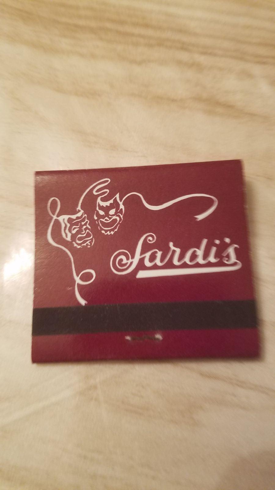 Vintage Sardi's Restaurant Match Book