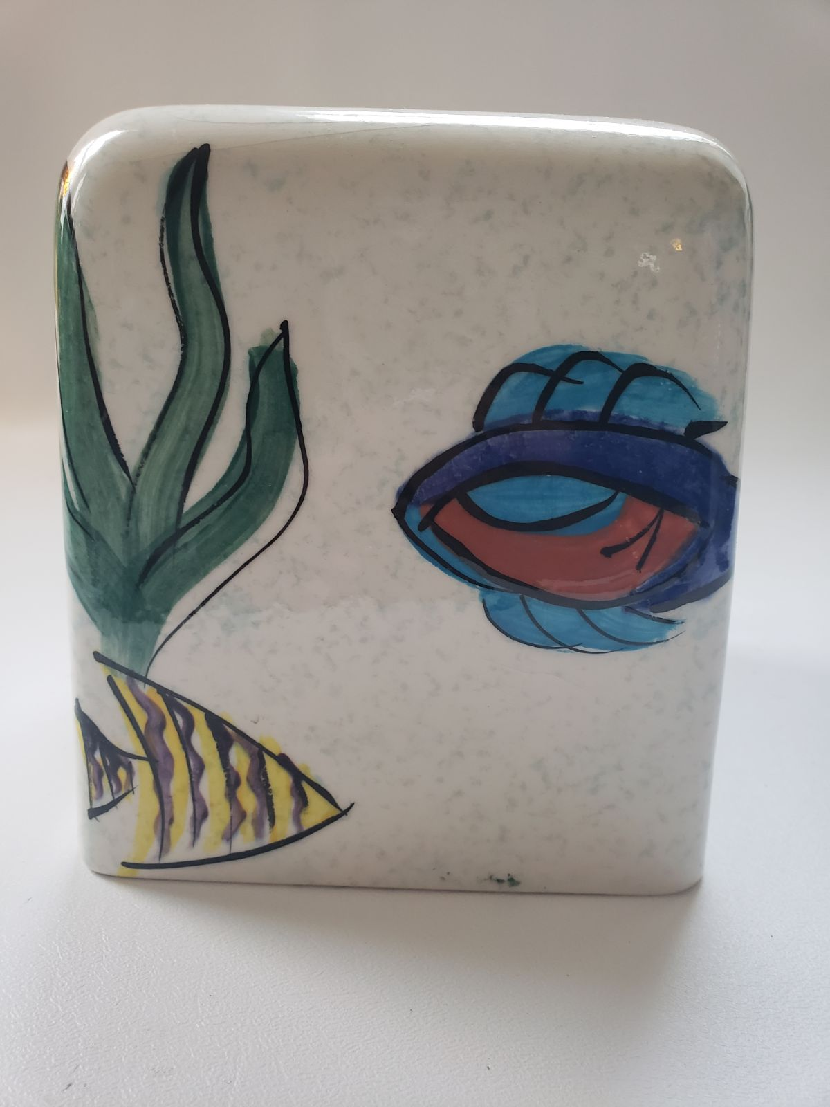 Handpainted by India Ink Tissue Box
