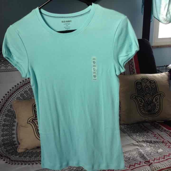 Girls blue tee shirt