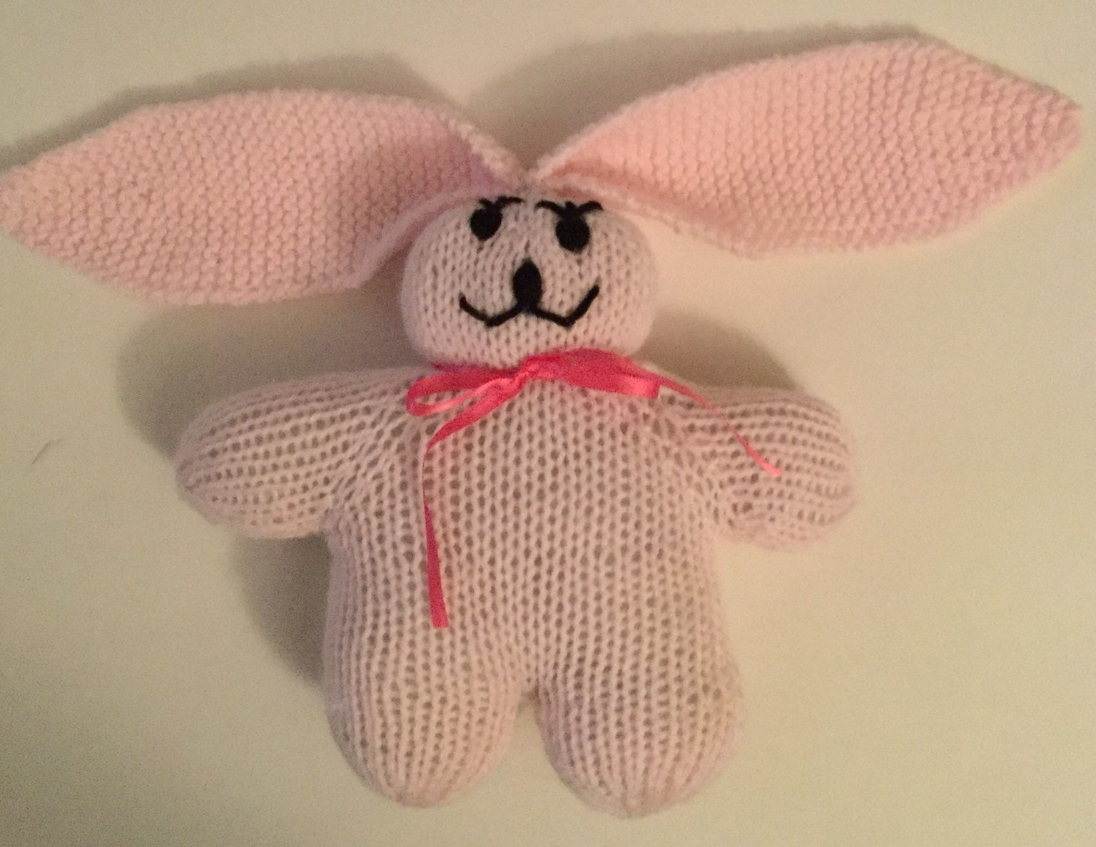 Knit lop bunny, pink