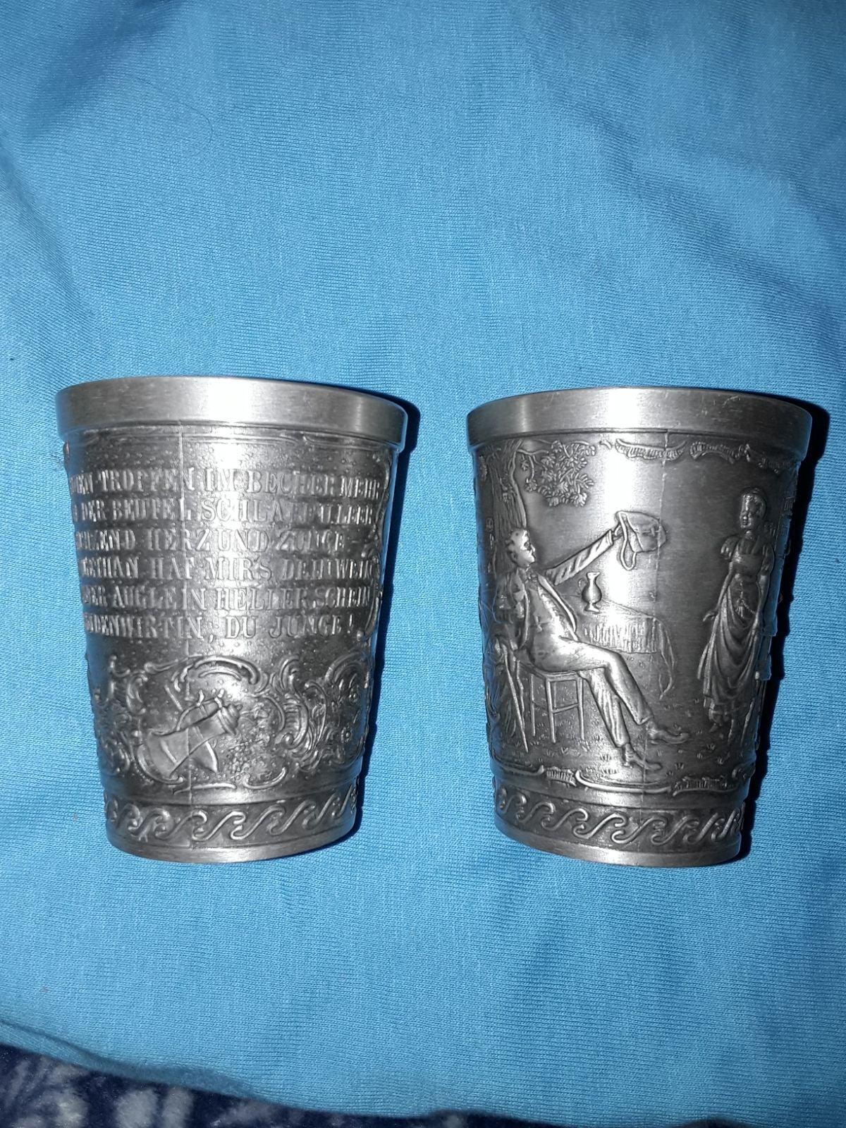 Frieling zinn pewter cups