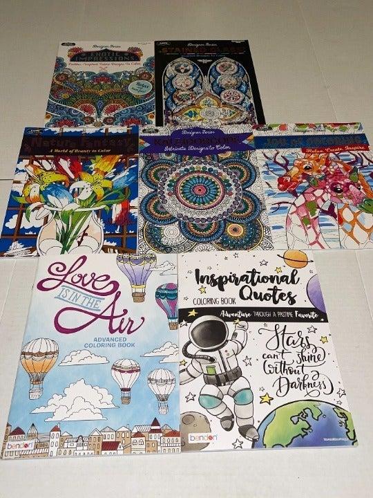 7 Kappa & Bendon adult coloring books