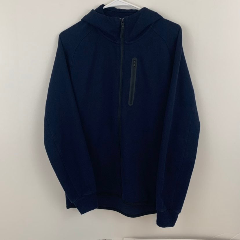Uniqlo men dry sweat full zip hoodie M