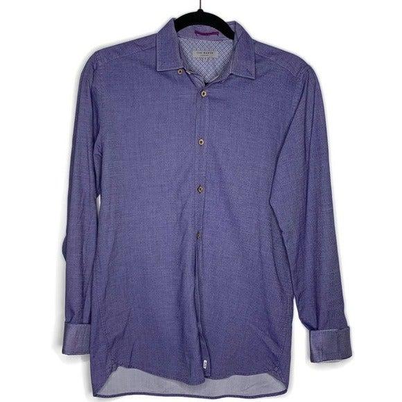 Ted Baker Men's Flancan Trim Fit Shirt