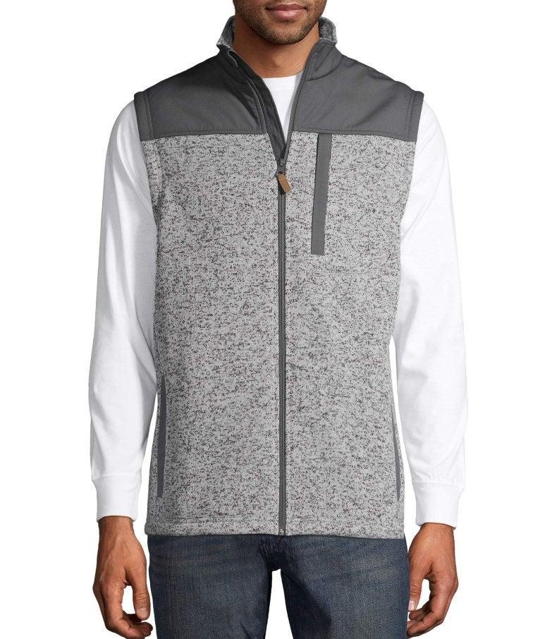 George Mens Size S Full Zip Fleece Vest
