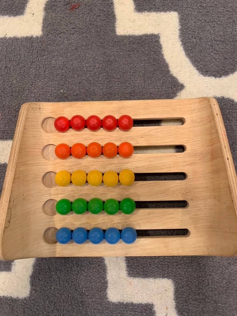 Babys first abacus counting toy