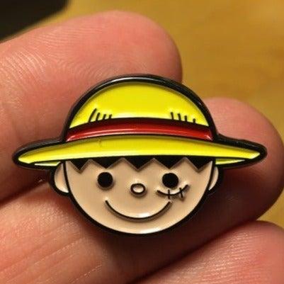One piece anime enamel pin