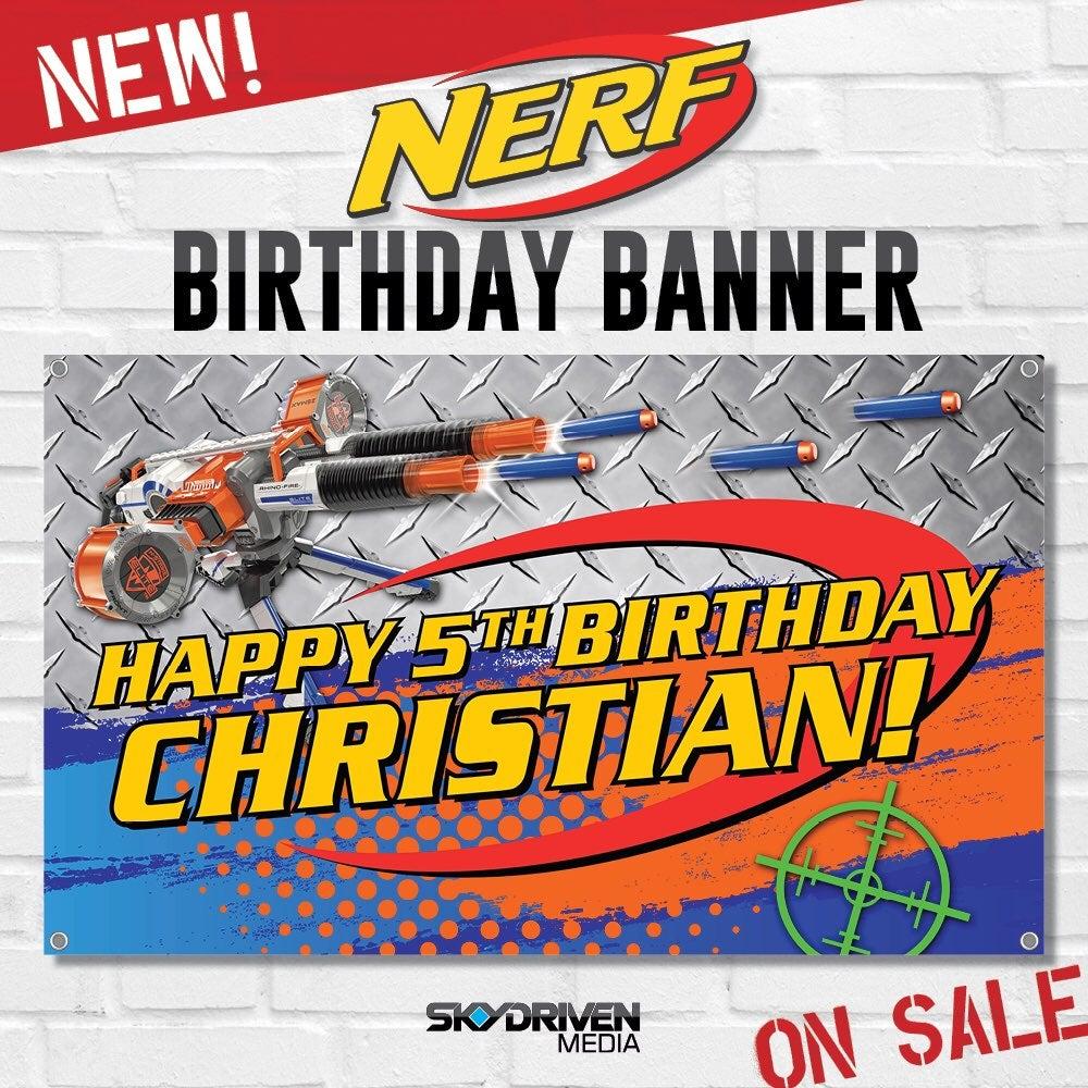 Nerf Birthday Banner