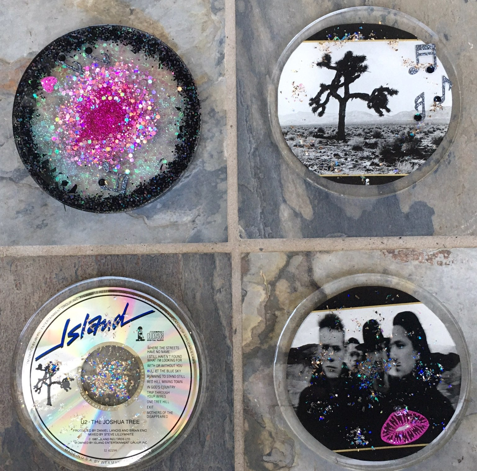 U2 Resin Coasters