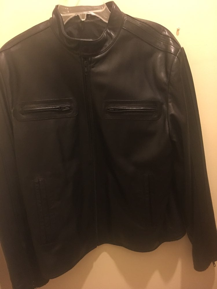 Murano Lamb Skin Leather Biker Jacket.