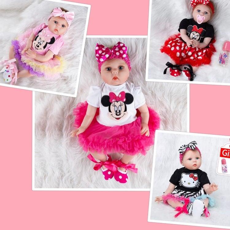 """22"""" Lifelike baby girl doll 4 styles"""