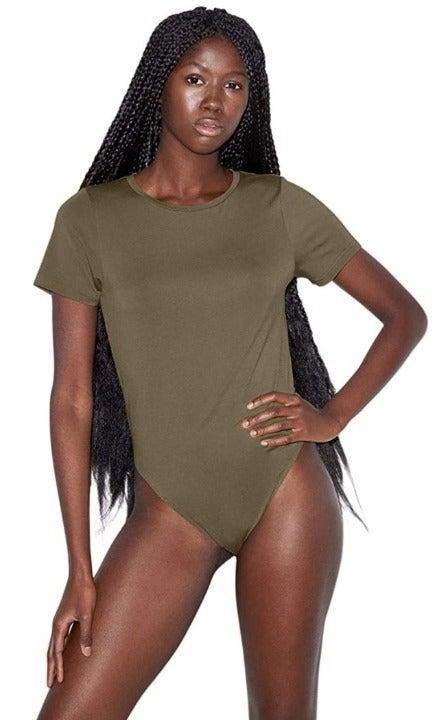 American Apparel Women's Bodysuit Army