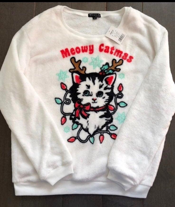 Kitty cat christmas sweater