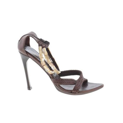 BCBGMAXAZRIA Beaded Woven Sandals 36.5