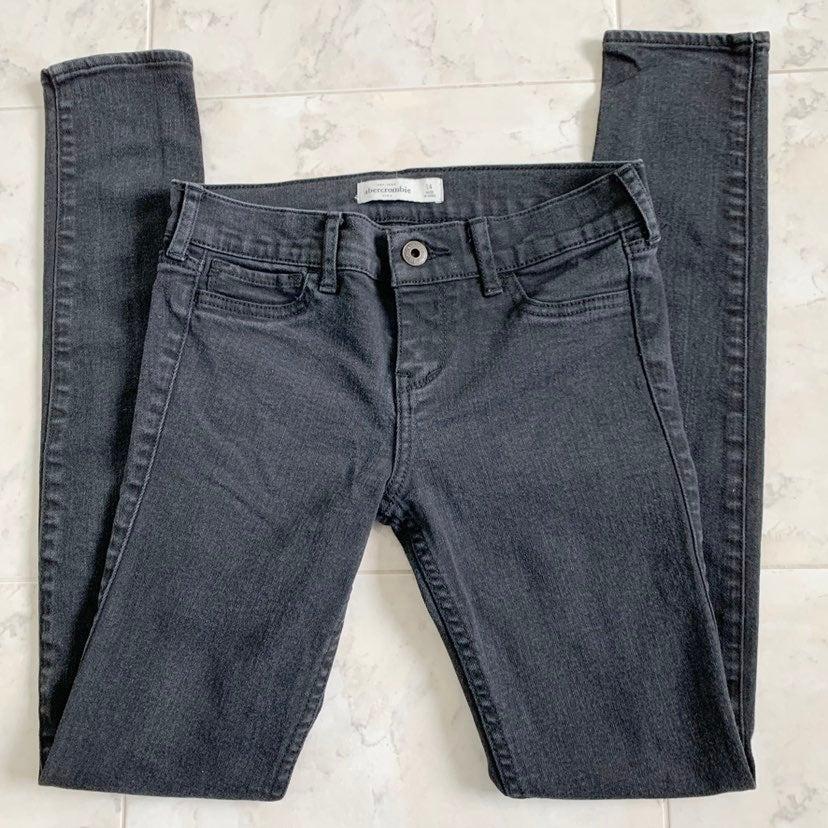 Abercrombie Black Skinny Jeans Girls 14