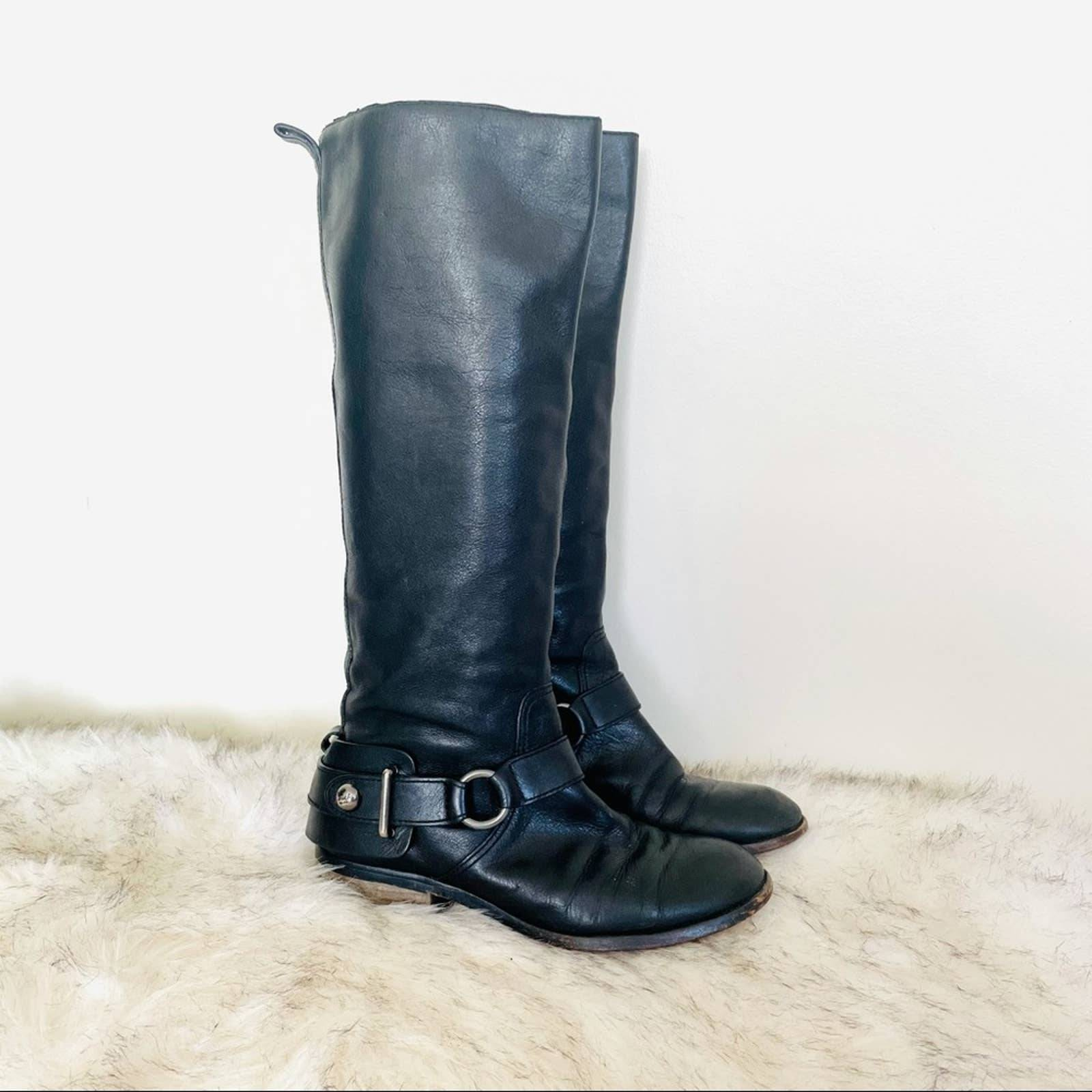 COACH leather Natalie harnessed boots
