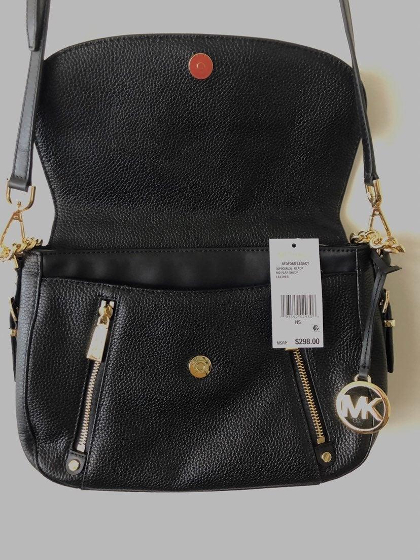 Michael Korda Leather Flap shoulder bag
