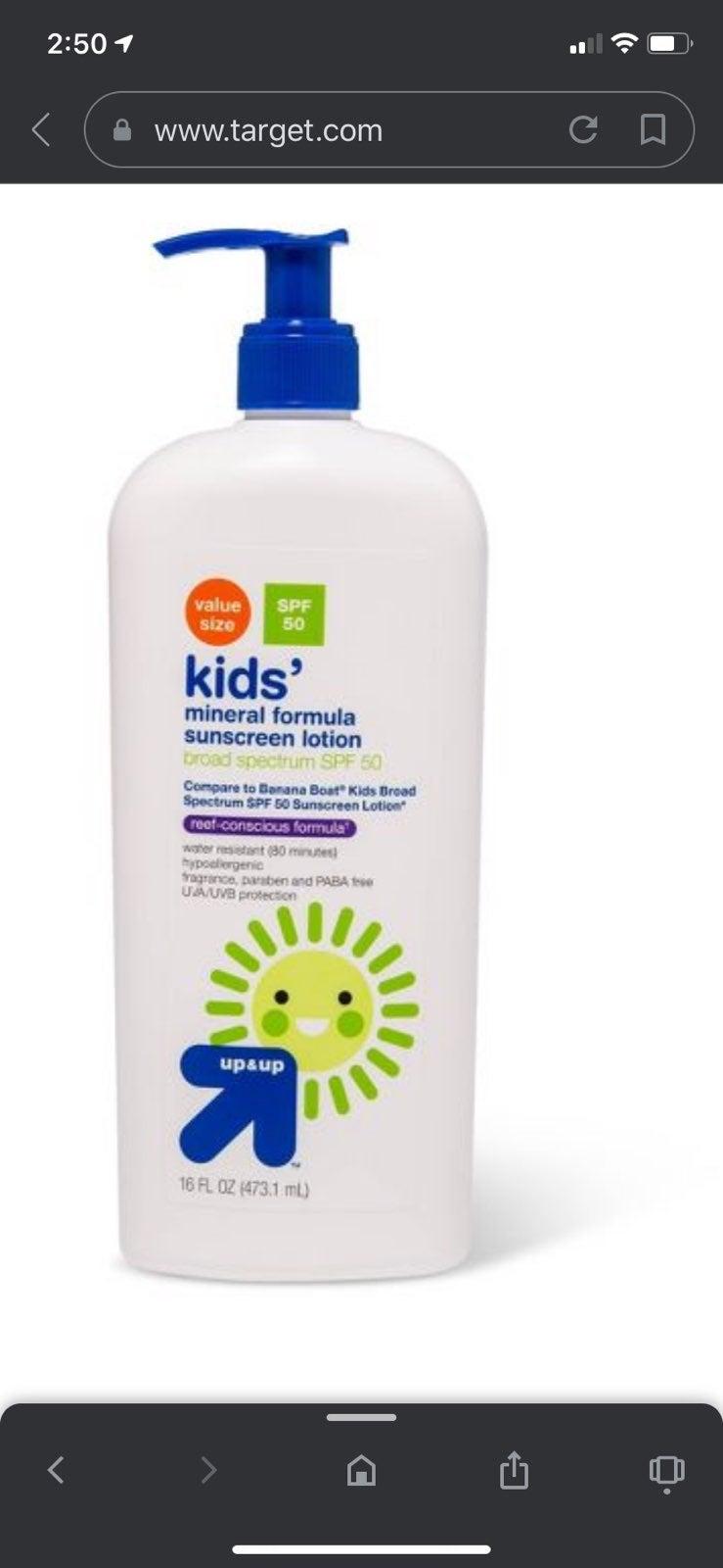 KIDS Sunscreen Lotion -SPF50 16 fl oz UP