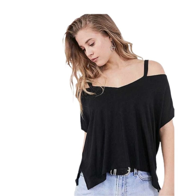 UO slience + noise Cold shoulder tee