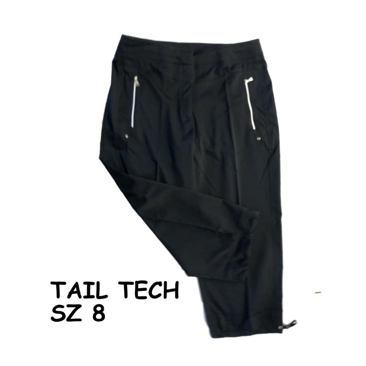 Tail Tech Golf Black Capris sz 8