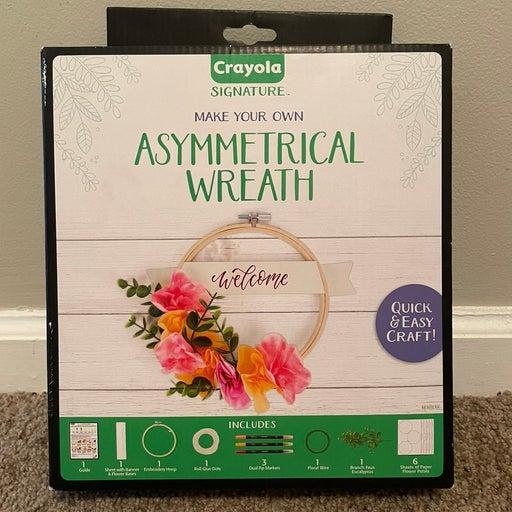 Crayola Asymmetrical Wreath craft