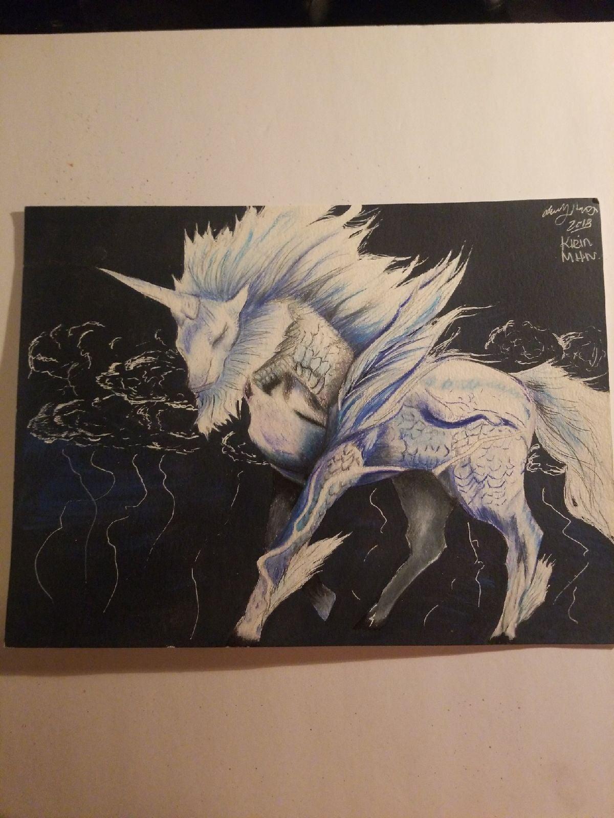 Kirin Monster hunter Prismacolor 9×12