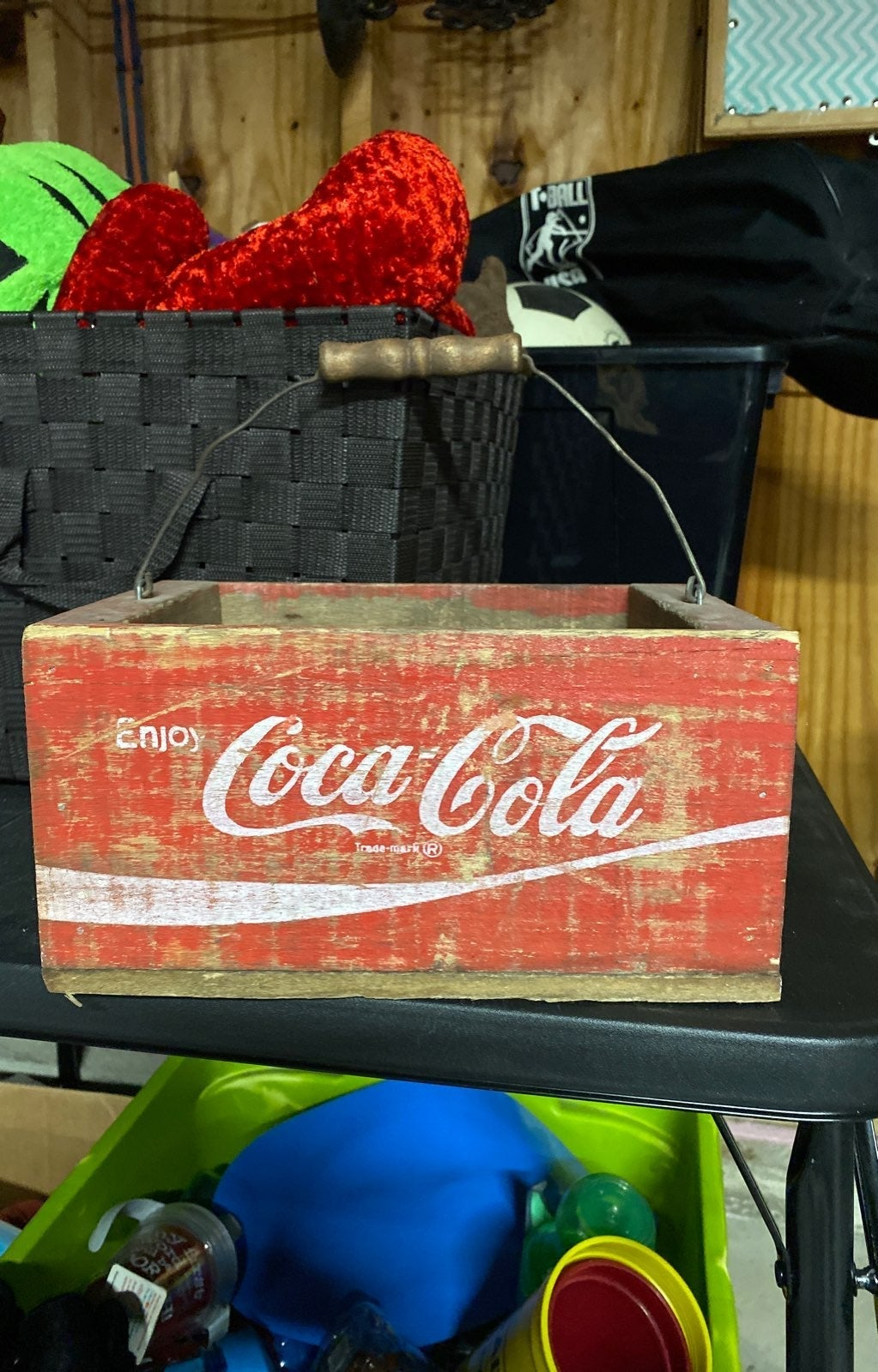 Cocacola wooden soda crate