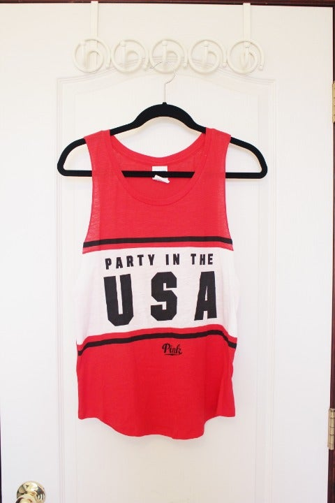 PINK Party in the USA Tank Top