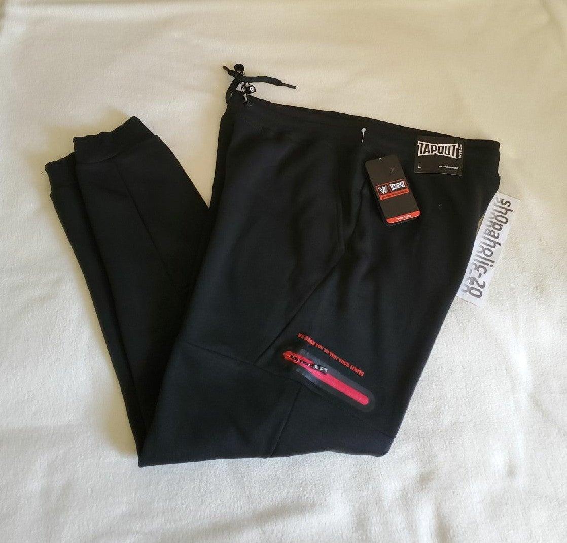 Tapout Jogger Pants Black Mens Large