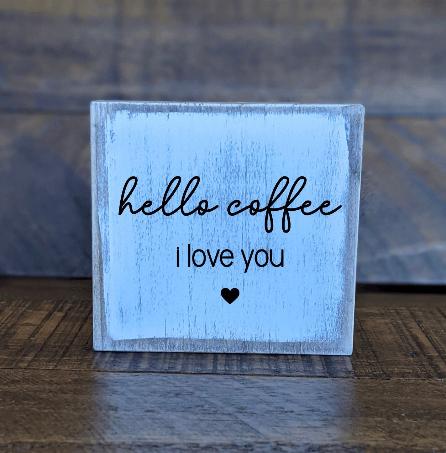 Wood Mini Block Coffee Bar Decor Sign