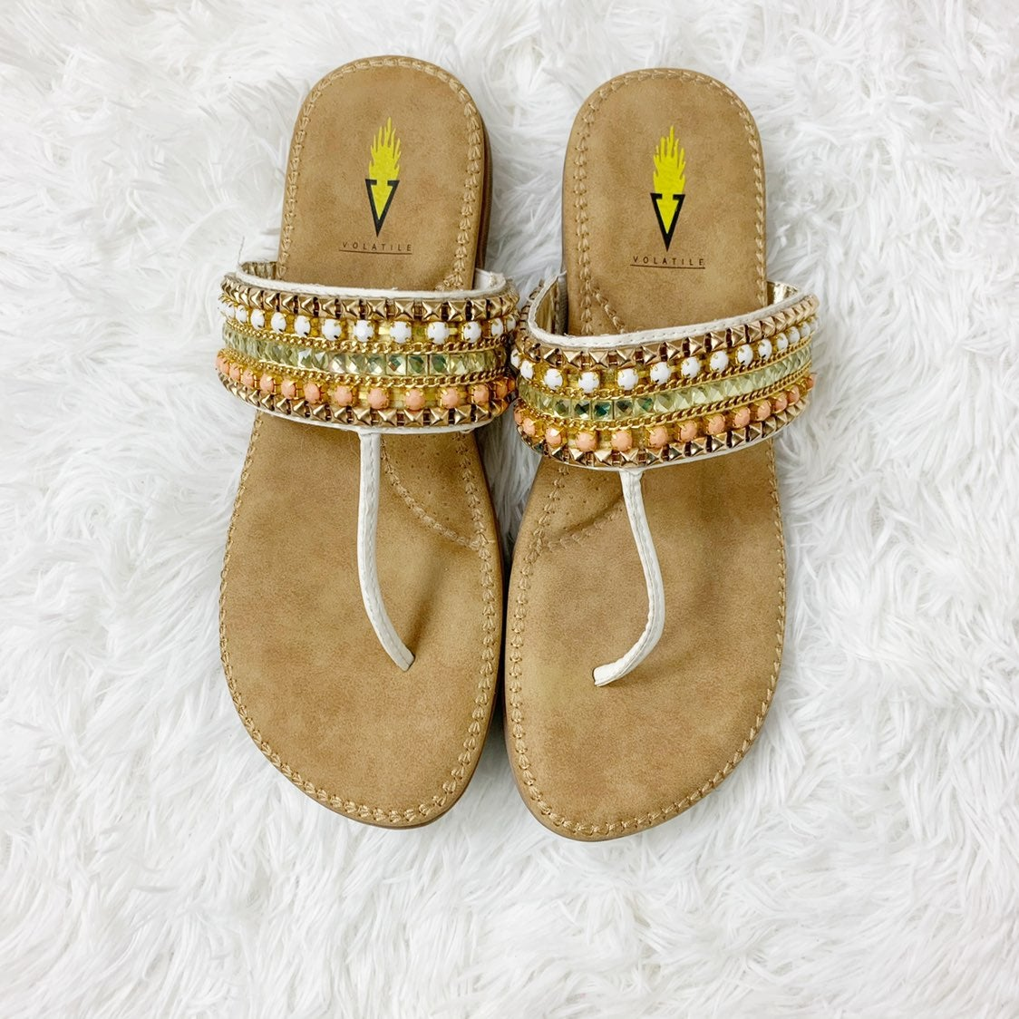 Volatile Embellished Thong Sandal !