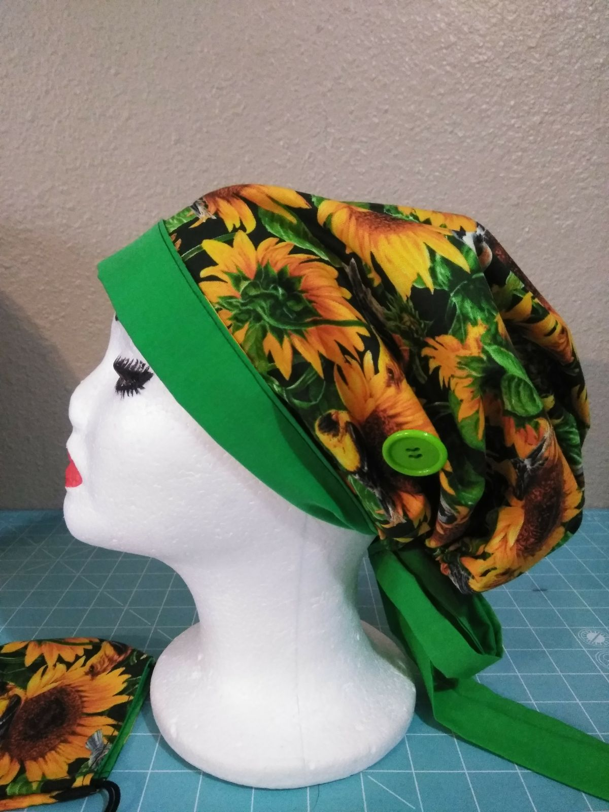 Reversible Two Tone Surgical Scrub Hat w