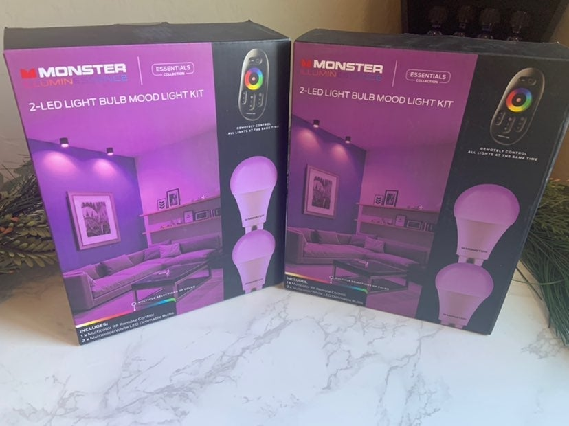 Mood Light Bulb (Bulbs and Remote)4pack