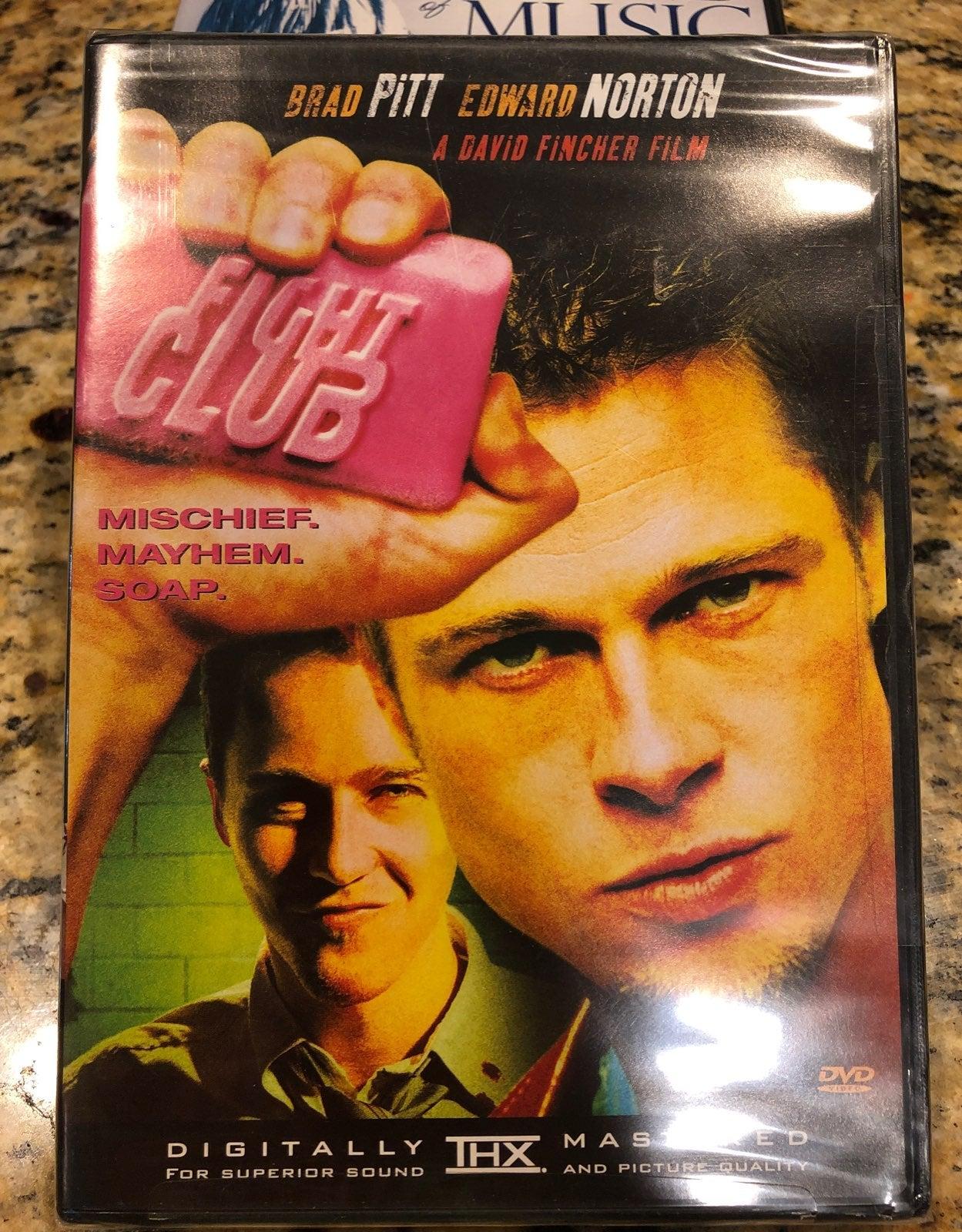 Fight Club DVD Brad Pitt
