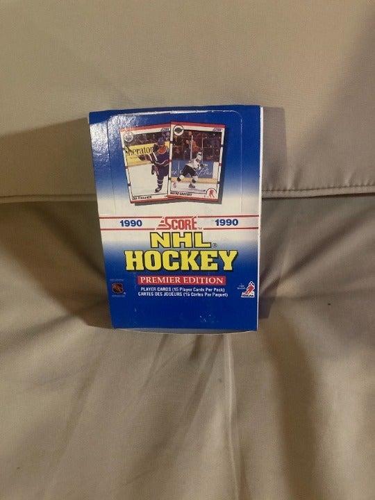 1990-91 Score Hockey box