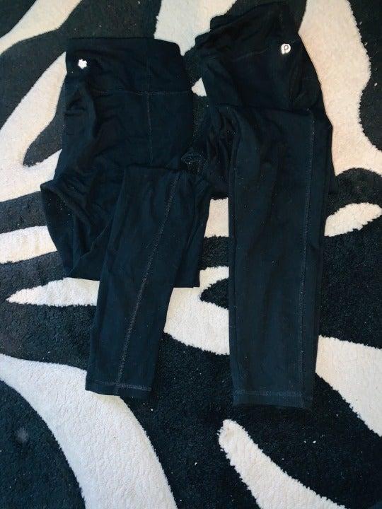 BLACK SHAPEWEAR YOGA PANTS 2 PAIR!