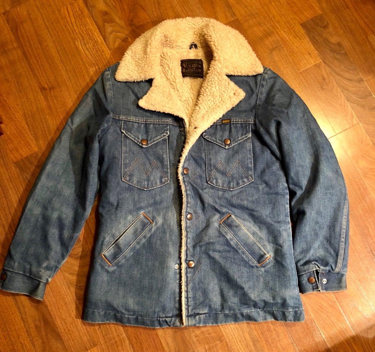 Vintage 70's Maverick Sherpa Ranch Coat