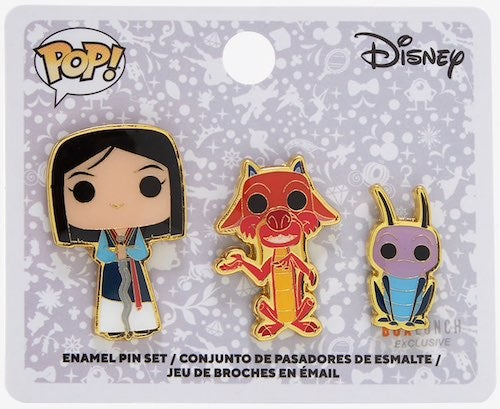 Disney Loungefly Mulan And Mushu Chibi Enamel Pin