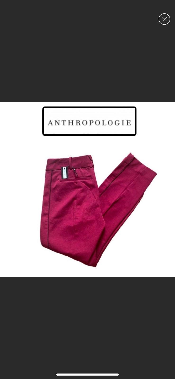 NWT Anthropologie essential slim trouser