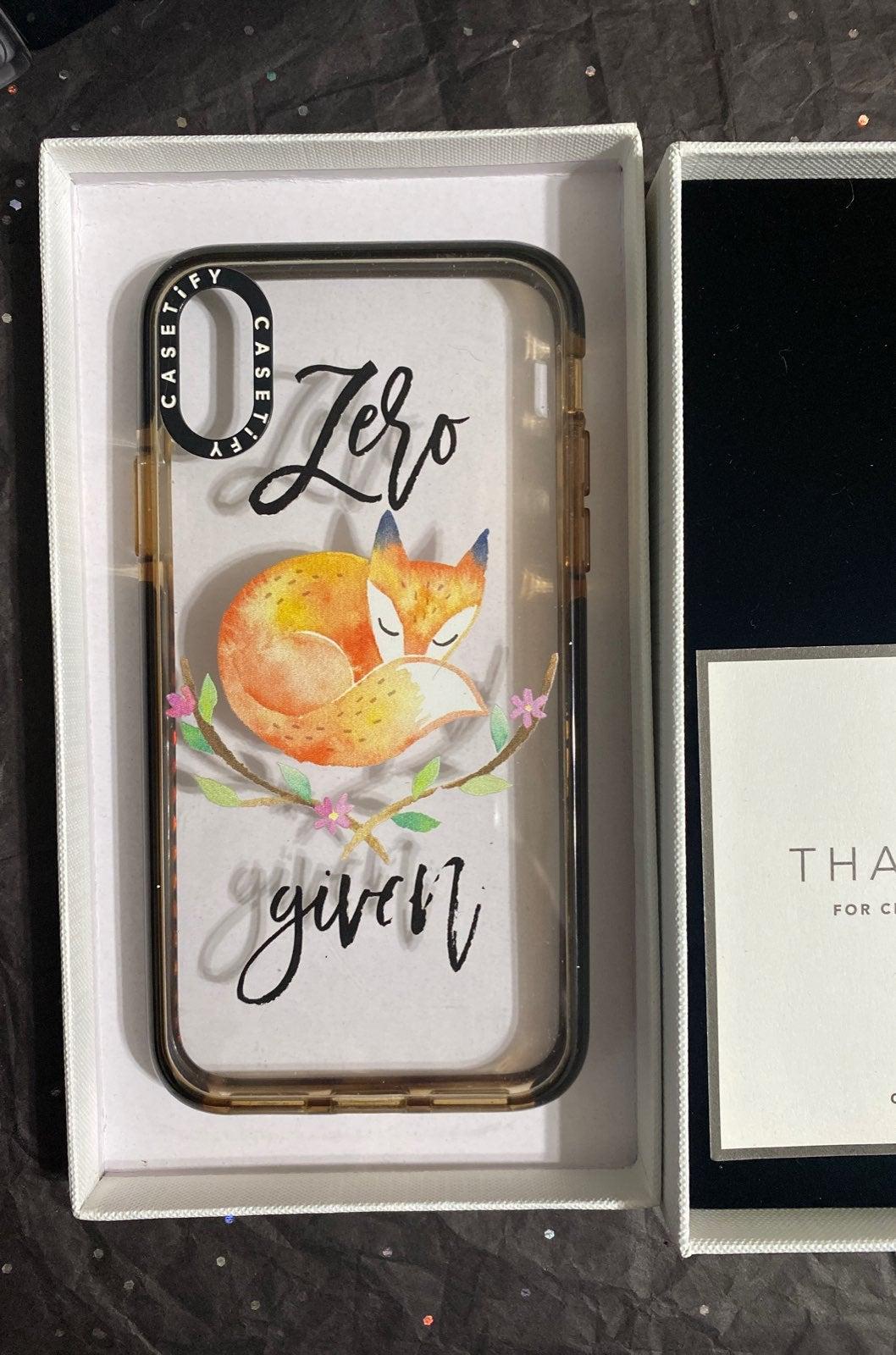 CASETIFY IMPACT IPHONE X ZERO FOX GIVEN